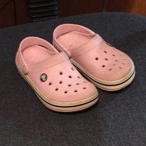 Pink Navy Crocs
